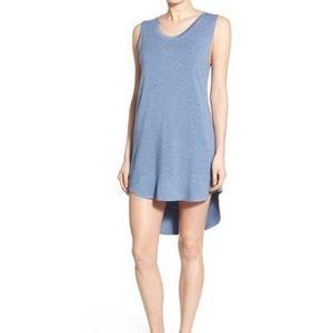 Lna blue Cardiff cutout back T-shirt dress small